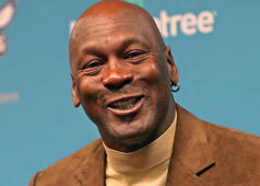Owner of the Charlotte Hornets, Michael Jordan, hosts a press conference for media before NBA All-Star Weekend at the Spectrum Center in Charlotte, North Carolina on February 12, 2019. NOTE TO USER: User expressly acknowledges and agrees that, by downloading and or using this photograph, User is consenting to the terms and conditions of the Getty Images License Agreement. Mandatory Copyright Notice: Copyright 2019 NBAE (Photo by Kent Smith/NBAE via Getty Images)