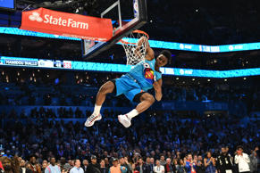 CHARLOTTE, NC - FEBRUARY 16: Hamidou Diallo #6 of the Oklahoma City Thunder dunks the ball during the 2019 AT&T Slam Dunk Contest during the 2019 NBA All Star Saturday Night on February 16, 2019 at Spectrum Center in Charlotte, North Carolina. NOTE TO USER: User expressly acknowledges and agrees that, by downloading and or using this photograph, User is consenting to the terms and conditions of the Getty Images License Agreement.  Mandatory Copyright Notice:  Copyright 2019 NBAE (Photo by Jesse D. Garrabrant/NBAE via Getty Images)