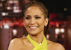 'Jimmy Kimmel Live!' airs every weeknight at 11:35 p.m. EST and features a diverse lineup of guests that include celebrities, athletes, musical acts, comedians and human interest subjects, along with comedy bits and a house band. The guests for Wednesday, February 13, included Jennifer Lopez ('World of Dance'), Jessica Rothe ('Happy Death Day 2U'), and musical guest Josh Groban. (Randy Holmes via Getty Images)JENNIFER LOPEZ