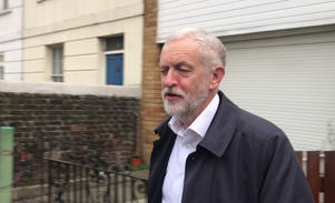 Labour party leader Jeremy Corbyn leaves his home in north London as speculation mounts that several Labour MPs could be about to quit the party. (Photo by PA/PA Images via Getty Images)