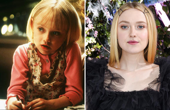 Slide 1 of 101: I Am Sam - 2001; SAN MARINO, CALIFORNIA - FEBRUARY 05: Dakota Fanning attends Rodarte FW19 Fashion Show at The Huntington Library and Gardens on February 05, 2019 in San Marino, California. (Photo by Presley Ann/Patrick McMullan via Getty Images)