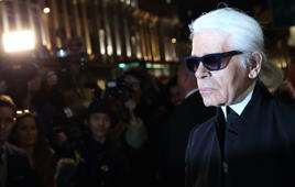 LONDON, ENGLAND MARCH 13: Karl Lagerfeldattends the opening of Karl Lagerfeld, Regent Street on March 13, 2014 in London, England. (Photo by Mike Marsland/WireImage)