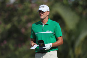 HONOLULU, HI - JANUARY 10:  Steve Stricker of the United States stands on the fifth hole during the first round of the Sony Open In Hawaii at Waialae Country Club on January 10, 2019 in Honolulu, Hawaii.  (Photo by Sam Greenwood/Getty Images)
