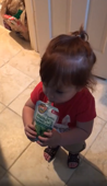 Two-year-old trashes veggie pouch after tasting it