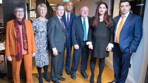 Pictured: The 'gang of seven', the first seven Labour MPs who quit earlier this week