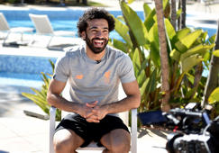 MARBELLA, SPAIN - FEBRUARY 17:  (THE SUN OUT, THE SUN ON SUNDAY OUT) Mohamed Salah of Liverpool during an interview after a training session at Marbella Football Center on February 17, 2018 in Marbella, Spain.  (Photo by Andrew Powell/Liverpool FC via Getty Images)