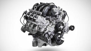 a close up of a motorcycle engine: 2020 Ford Super Duty 7.3 Gas Engine