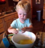 Opinions differ on toddlers using knives in the kitchen
