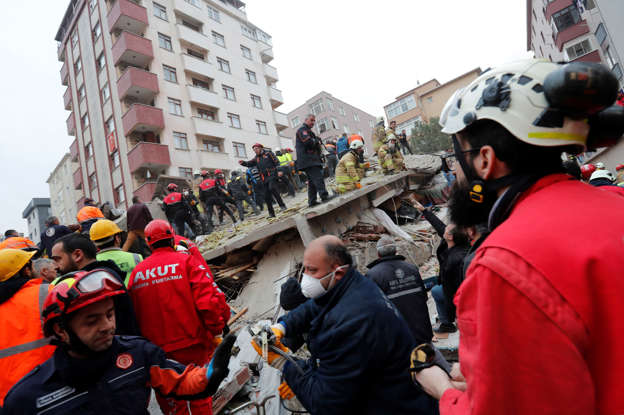 At least one killed after building collapses in Turkey's