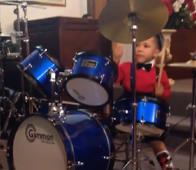 2-year-old is already an incredible drummer