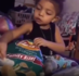 Little girl 'dunks' her chips into dip pictured on the bag