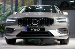 The Volvo V60 is seen during a presentation at the 88th International Motor Show at Palexpo in Geneva, Switzerland, March 6, 2018.  REUTERS/Pierre Albouy