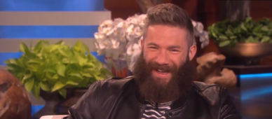 Super Bowl MVP shaves beard on 'Ellen'