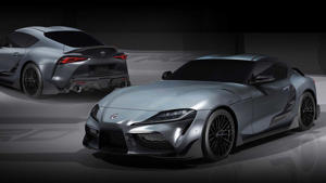 a car parked in a parking lot: Toyota Supra Performance Line Concept TRD