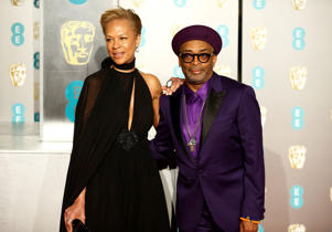 Spike Lee and Tonya Lewis Lee arrive at the British Academy of Film and Television Awards (BAFTA) at the Royal Albert Hall in London, Britain, February 10, 2019. REUTERS/Henry Nicholls
