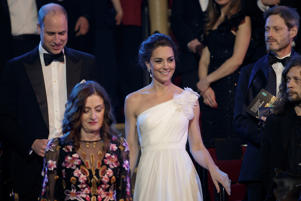 Britain's Prince William and Catherine, Duchess of Cambridge attend the BAFTA Awards ceremony at the Royal Albert Hall in London, Britain, February 10, 2019.  Tim Ireland/Pool via REUTERS