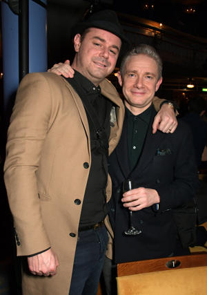 LONDON, ENGLAND - FEBRUARY 06:  Danny Dyer (L) and Martin Freeman attend the press night after party for 'Pinter At The Pinter - Pinter Seven: A Slight Ache & The Dumb Waiter' at the Harold Pinter Theatre on February 6, 2019 in London, England.  (Photo by David M. Benett/Dave Benett/Getty Images)