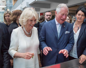 LYON, FRANCE - MAY 07:  Prince Charles, Prince of Wales and Camilla, Duchess of Cornwall visit Les Halles de Lyon-Paul Bocuse food market on May 8, 2018 in Lyon, France.  (Photo by Arthur Edwards - Pool/Getty Images)