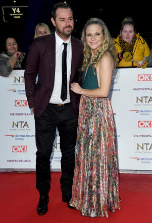 LONDON, ENGLAND - JANUARY 22:  Danny Dyer and Kellie Bright attend the National Television Awards held at the O2 Arena on January 22, 2019 in London, England. (Photo by Stuart C. Wilson/Getty Images)