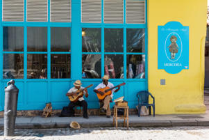 Havana: Cuban street musicans in the side street in Havana City Cuba  - Serie Cuba Reportage