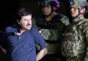 'El Chapo' was recaptured by Mexican soldiers here in January 2016 following six months on the run