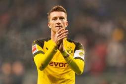 FRANKFURT AM MAIN, GERMANY - FEBRUARY 02: Marco Reus of Dortmund looks on during the Bundesliga match between Eintracht Frankfurt and Borussia Dortmund at Commerzbank-Arena on February 2, 2019 in Frankfurt am Main, Germany. (Photo by TF-Images/Getty Images)