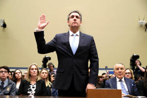 Michael Cohen, former attorney and fixer for President Donald Trump, testifies before the House Oversight Committee on Capitol Hill February 27, 2019 in Washington, DC. Last year Cohen was sentenced to three years in prison and ordered to pay a $50,000 fine for tax evasion, making false statements to a financial institution, unlawful excessive campaign contributions and lying to Congress as part of special counsel Robert Mueller's investigation into Russian meddling in the 2016 presidential elections.