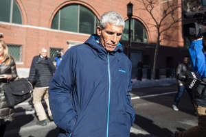 William Singer leaves Boston Federal Court after being charged with racketeering conspiracy, money laundering conspiracy, conspiracy to defraud the United States, and obstruction of justice on March 12, 2019 in Boston, Massachusetts. Singer is among several charged in alleged college admissions scam.