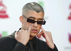 19th Latin Grammy Awards – Arrivals – Las Vegas, Nevada, U.S., November 15, 2018 – Bad Bunny poses. REUTERS/Steve Marcus