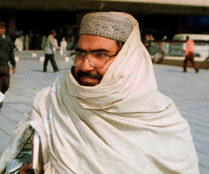 File photo of Masood Azhar, founder of a major Islamic militant group, Jaish-e-Mohammad.
