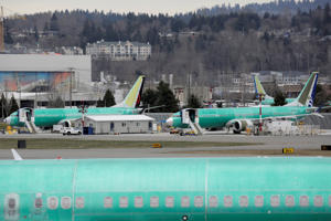 Boeing 737 MAX aircraft are parked at a Boeing production facility in Renton, Washington, U.S., March 11, 2019. REUTERS/David Ryder