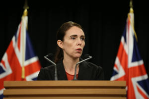 WELLINGTON, NEW ZEALAND - MARCH 15: Prime Minister Jacinda Ardern speaks to media during a press conference at Parliament on March 15, 2019 in Wellington, New Zealand. One person is in custody and police are searching for another gunmen following several shootings at mosques in Christchurch. Police have not confirmed the number of casualties or fatalities. All schools and businesses are in lock down as police continue to search for other gunmen. (Photo by Hagen Hopkins/Getty Images)