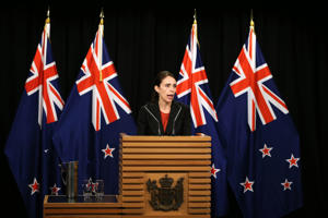 New Zealand Prime Minister Jacinda Adern addresses the media after the Christchurch attacks.