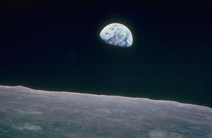 UNSPECIFIED - DECEMBER 1968:  Earth rising over curvature of the moon as seen from Apollo 8.  (Photo by NASA/NASA/The LIFE Picture Collection/Getty Images)