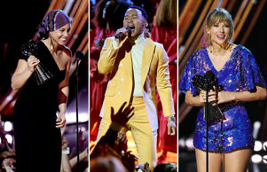 Alicia Keys, John Legend and Taylor Swift.