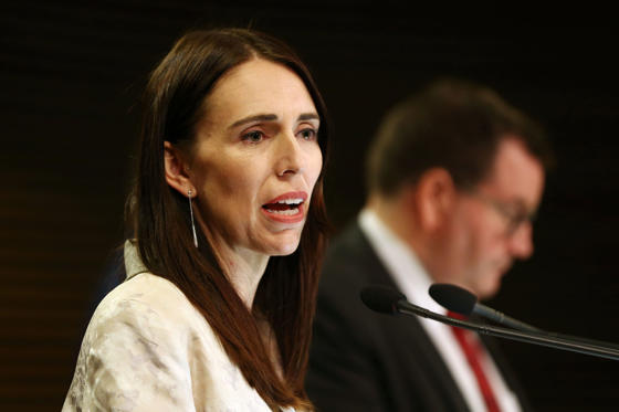 Slide 1 of 35: WELLINGTON, NEW ZEALAND - JANUARY 29: Prime Minister Jacinda Ardern speaks to media during a post cabinet press conference at Parliament on January 29, 2019 in Wellington, New Zealand. (Photo by Hagen Hopkins/Getty Images)