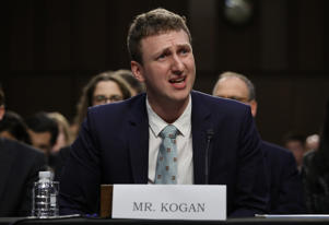 WASHINGTON, DC - JUNE 19:  Aleksandr Kogan, the developer of the app that allowed Cambridge Analytica to collect personal details of 80 million Facebook users, testifies before the Senate Subcommittee on Consumer Protection, Product Safety, Insurance and Data Security June 19, 2018 in Washington, DC. The committee heard testimony on the subject of 'Cambridge Analytica and Other Facebook Partners: Examining Data Privacy Risks.'  (Photo by Win McNamee/Getty Images)