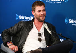 NEW YORK, NY - OCTOBER 30:  Actor Chris Hemsworth attends SiriusXM's 'EW Spotlight' With Chris Hemsworth And Taika Waititi at SiriusXM Studios on October 30, 2017 in New York City.  (Photo by Astrid Stawiarz/Getty Images for SiriusXM)