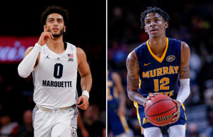 Marquette Golden Eagles guard Markus Howard; Murray State Racers' Ja Morant
