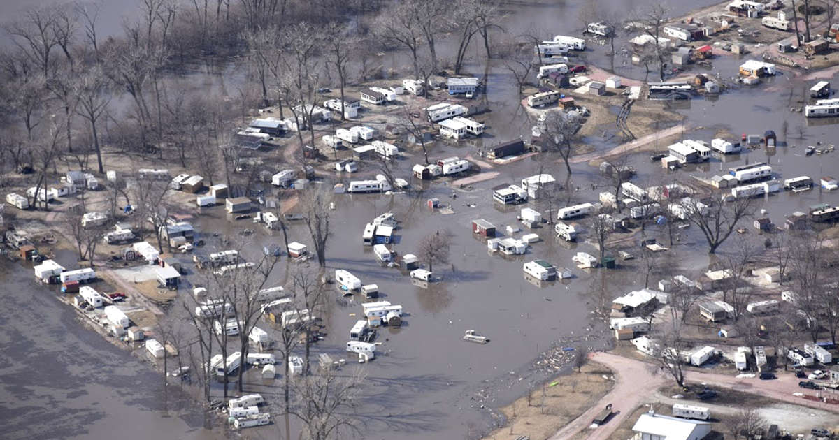 Satellite images show the devastating floods in the Midwest