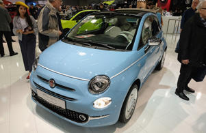VIENNA, AUSTRIA - JANUARY 10:  A Fiat 500 is displayed during the Vienna Autoshow, as part of Vienna Holiday Fair on January 10, 2019 in Vienna, Austria. The Vienna Autoshow will be held from January 10-13.  (Photo by Manfred Schmid/Getty Images)