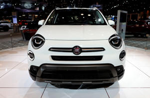 CHICAGO - FEBRUARY 08:  2019 Fiat 500 is on display at the 111th Annual Chicago Auto Show at McCormick Place in Chicago, Illinois on February 8, 2019.  (Photo By Raymond Boyd/Getty Images)