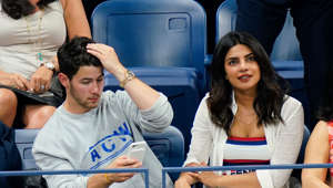 NEW YORK, NY - SEPTEMBER 04:  Nick Jonas and Priyanka Chopra seen at the 2018 US Open on September 4, 2018 in New York City.  (Photo by Gotham/GC Images)