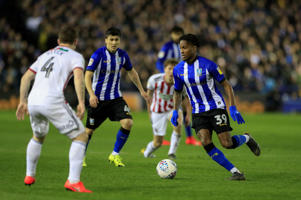 4th March 2019, Hillsborough, Sheffield, England; EFL Championship football, Sheffield Wednesday versus Sheffield United; Rolando Aarons of Sheffield Wednesday takes on John Fleck of Sheffield United (photo by Conor Molloy/Action Plus via Getty Images)