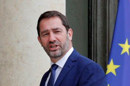 New French junior minister in charge relation with the Parliament and also government spokesman Christophe Castaner arrives for the first weekly cabinet meeting under new French President Emmanuel Macron, Thursday, May 18, 2017 at the Elysee Palace in Paris. Macron named a mix of prominent and unknown figures from the left and the right to make up the government. (AP Photo/Christophe Ena)