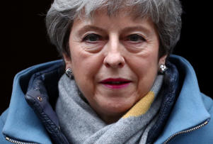 Britain's Prime Minister Theresa May is seen outside Downing Street in London, Britain March 20, 2019. REUTERS/Hannah McKay