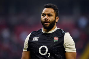 England's Billy Vunipola during the warm up before the match