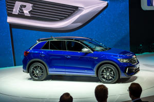 GENEVA, SWITZERLAND - MARCH 05: Volkswagen T-Roc R is displayed during the first press day at the 89th Geneva International Motor Show on March 5, 2019 in Geneva, Switzerland. (Photo by Robert Hradil/Getty Images)