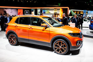 GENEVA, SWITZERLAND - MARCH 05: Volkswagen T-Roc is displayed during the first press day at the 89th Geneva International Motor Show on March 5, 2019 in Geneva, Switzerland. (Photo by Robert Hradil/Getty Images)