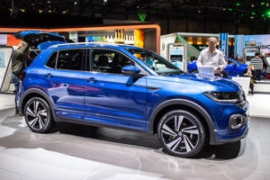 GENEVA, SWITZERLAND - MARCH 05: Volkswagen T-Cross R line is displayed during the first press day at the 89th Geneva International Motor Show on March 5, 2019 in Geneva, Switzerland. (Photo by Robert Hradil/Getty Images)